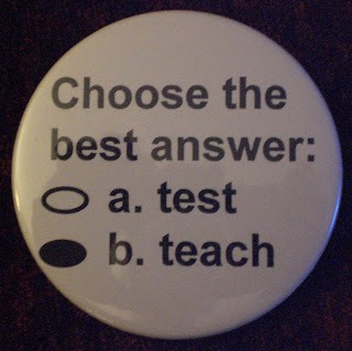 teach test button