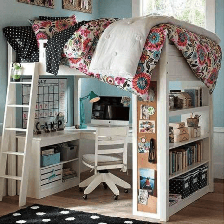 Lofted Bed Maximize Space In Your Dorm Room
