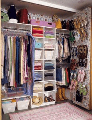 Dorm room organization ideas road2college for How to make wardrobe closet