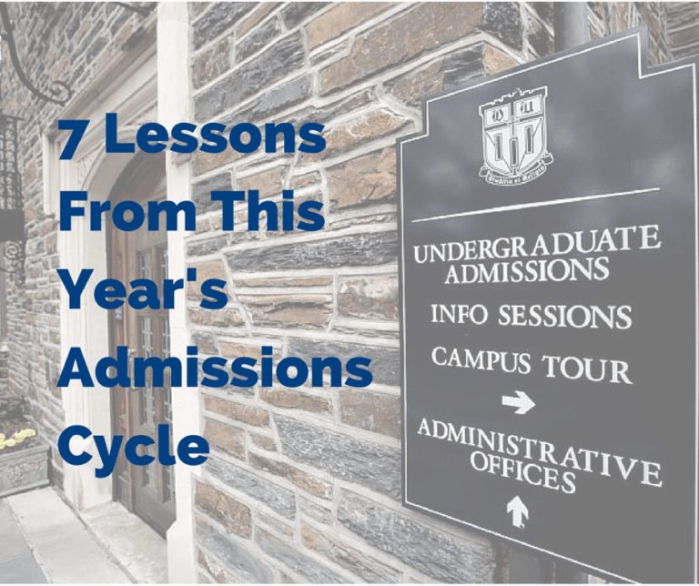 7 Lessons From This Year's Admissions