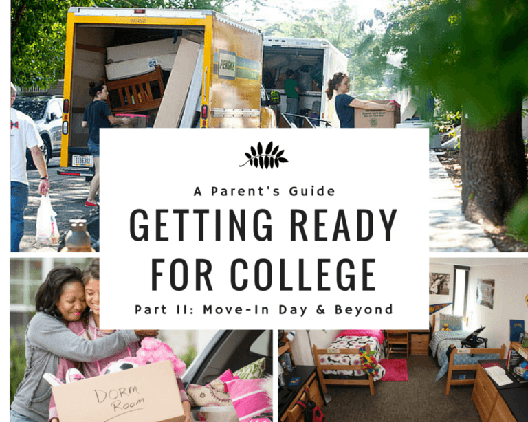 A Parent's Guide to College 102: Move-In Day & Beyond