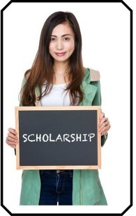 Girl with Scholarship Sign