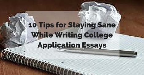 tips for writing good college essays