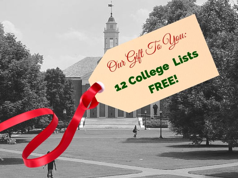 12 Days of Christmas College Lists II-2