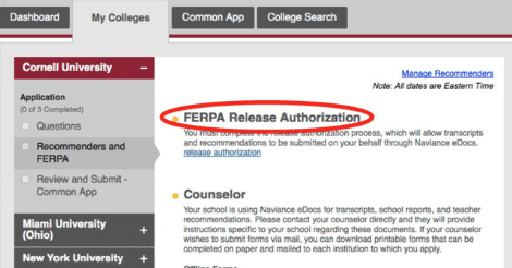 ferpa form 2019  What is the FERPA Waiver on the Common Application ...