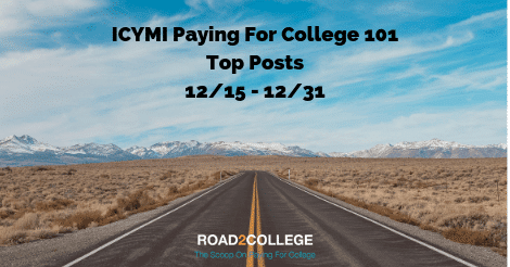 ICYMI Paying For College Discussions: 12/15 – 12/31
