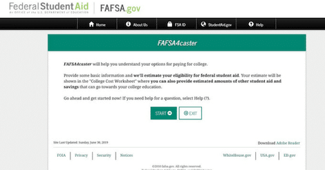 How To Use The FAFSA4caster