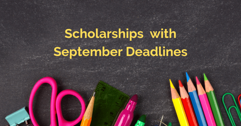 Scholarships with September Deadlines